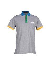 Paul And Shark Topwear Polo Shirts Men Grey