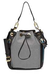 Kenzo Drawstring Tote With Leather