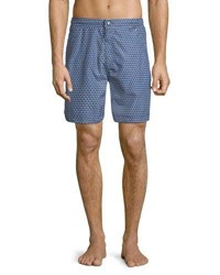 Peter Millar Two Can Too Swim Trunks Navy