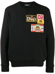 Dsquared2 Embroidered Logo Patch Sweatshirt Black