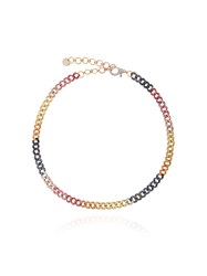 Shay Rainbow Mini Pave Link Choker Multicolour