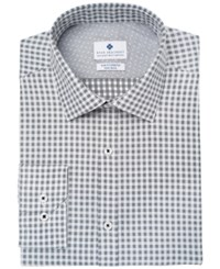 Ryan Seacrest Distinction Men's Slim Fit Stretch Non Iron Performance Dress Shirt Created For Macy's Black White Check