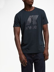 K Way Short Sleeve Logo T Shirt Blue Depth