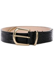 B Low The Belt Textured Buckle Black