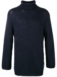 Ma'ry'ya Turtle Neck Jumper Blue
