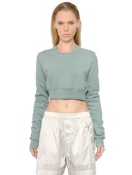 Rick Owens Drkshdw Cropped Cotton Sweatshirt