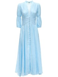 Cult Gaia Willow Eyelet Lace Midi Dress Light Blue