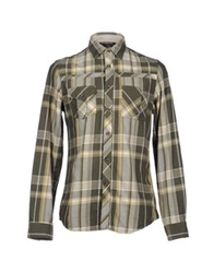 Guess Long Sleeve Shirts Military Green