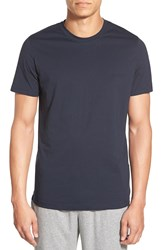 Boss Cotton Crewneck T Shirt Dark Blue