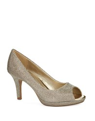 Bandolino Supermodel Peep Toe Pumps Gold
