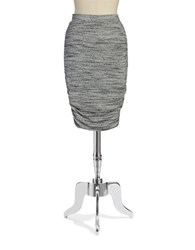 Splendid Ruched Knit Skirt Heather Grey