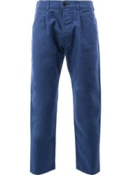 Ganryu Comme Des Garcons Tapered Cropped Trousers Blue