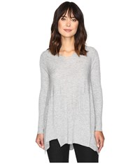 Brigitte Bailey Penny Long Sleeve Sweater Heather Grey Women's Sweater Gray