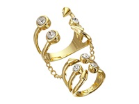 Guess Stone Claw Midi Regular Ring With Chain Gold Crystal Ring