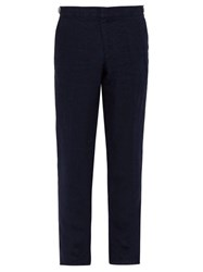 Orlebar Brown Griffon Linen Trousers Navy