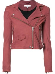 Iro Cropped Biker Jacket Red