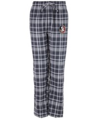 Concepts Sport Men's Florida State Seminoles Bleacher Flannel Sleep Pants Charcoal