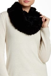 Dena Genuine Rex Rabbit Fur Shawl Black