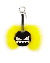 Fendi Bag Bugs Mirror Charm For Handbag Black