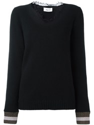 Aviu Lace Collar Jumper Black