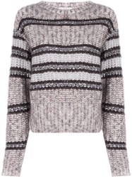 Brunello Cucinelli Chunky Knit Jumper Brown