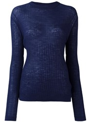 Dkny Fine Knit Jumper Blue