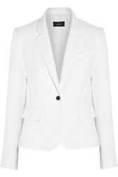 Joseph Cotton Blend Tweed Blazer White