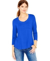 Maison Jules Long Sleeve Scoop Neck T Shirt
