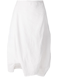 Rundholz Draped Asymmetric Skirt White
