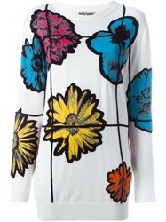 Moschino Floral Jumper White