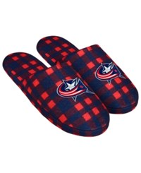 Forever Collectibles Columbus Blue Jackets Flannel Slide Slippers