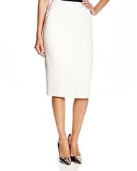 Elie Tahari Harla Mesh Gusset Pencil Skirt Winter White