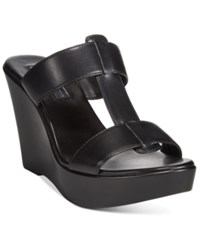 Inc International Concepts Paciee Wedge Sandals Only At Macy's Women's Shoes Black