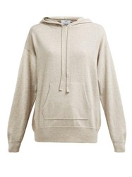 Allude Hooded Wool And Cashmere Blend Sweater Brown