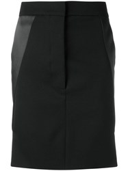 Paco Rabanne Midi Straight Skirt Black