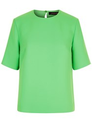 Jaeger Crepe Boxy Top Green