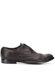 Officine Creative Anatomia 43 Laceless Oxford Shoes Brown