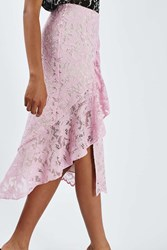 Boutique Lace Ruffle Skirt By Pink