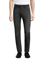 John Varvatos Wight Slim Fit Distressed Jeans Grey