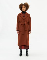 Just Female Alexia Coat In Golden Brown Size Extra Small Wool