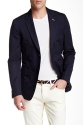 Gant R. Unconstructed Two Button Notch Lapel Blazer Blue