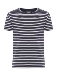 Linea Strettion Stripe T Shirt Navy