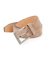 Saks Fifth Avenue Suede Belt Taupe