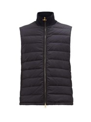 Dunhill Down Quilted Technical Gilet Navy