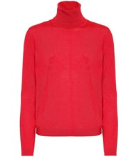 Red Valentino Wool Silk And Cashmere Sweater Red