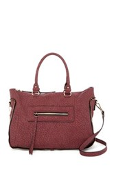 Urban Expressions Alessandra Faux Leather Satchel Red