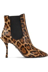 Dolce And Gabbana Leopard Print Pony Hair Ankle Boots Leopard Print