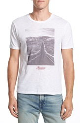 Lucky Brand 'Indian Motorcycles Road' Graphic T Shirt Bright White