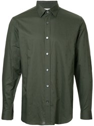 Gieves And Hawkes Plain Shirt Cotton Xl Green