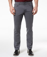 Inc International Concepts I.N.C. Men's Stretch Twill Pants Created For Macy's Grey